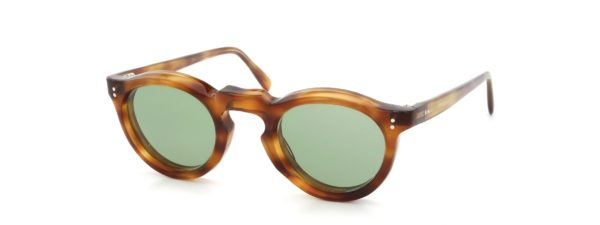 Lesca レスカ Vintage Panto Light-Havana 8mm (v7) Light-Green-Lens