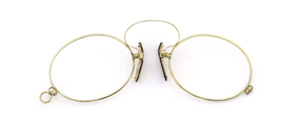Lesca レスカ Speciality collection Pince Nez [v1] Oval Gold