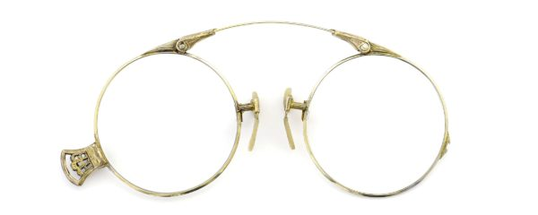 Lesca レスカ Speciality collection Pince Nez [v2] Folding Round 1/10 12KGF Gold