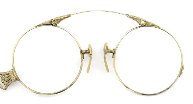Lesca レスカ Speciality collection Pince Nez [v2] Round 1/10 12KGF Gold