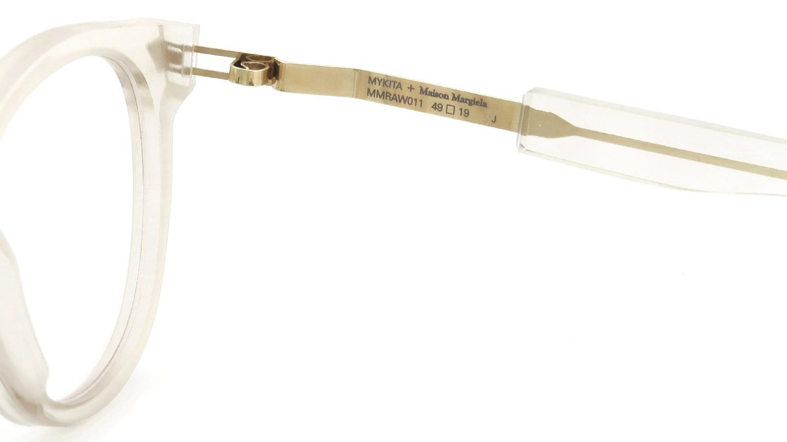 MYKITA + Maison Margiela MMRAW011 COL.846 Raw Champagne/Glossy Gold 10