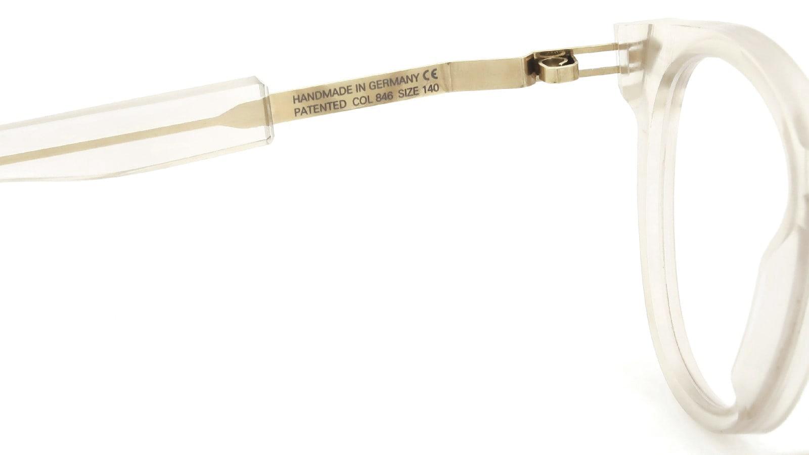 MYKITA + Maison Margiela MMRAW011 COL.846 Raw Champagne/Glossy Gold 9
