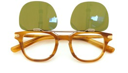 OLIVER PEOPLES 跳ね上げ式クリップオンサングラス 25周年モデル XXV-RX MSLWD VG装着例_open