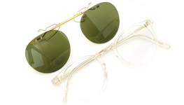 OLIVER PEOPLES 跳ね上げ式クリップオンサングラス O'MALLEY-P-CF BECRヴィンテージグリーン 装着例
