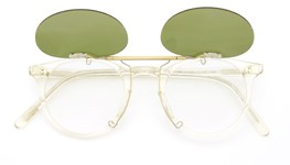 OLIVER PEOPLES クリップオンサングラス O'MALLEY-P-CF BECRヴィンテージグリーン 装着例_open