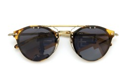 OLIVER PEOPLES クリップオンサングラス OP-505 DTB ダークグレーレンズ 装着例_close