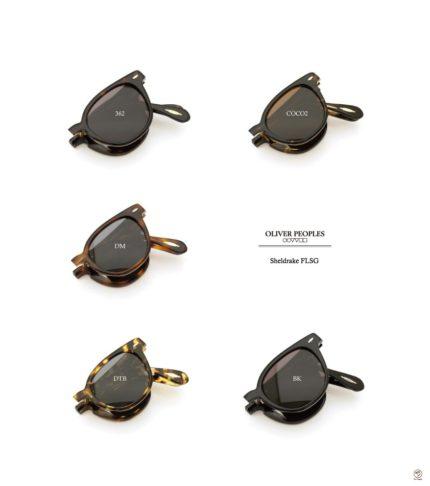 OLIVER PEOPLES オリバーピープルズの最新メガネ 折り畳みサングラス Sheldrake-FLSG