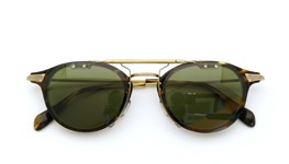 OLIVER PEOPLES クリップオンサングラス Wylie-P COCO/AG ヴィンテージグリーン装着例_close