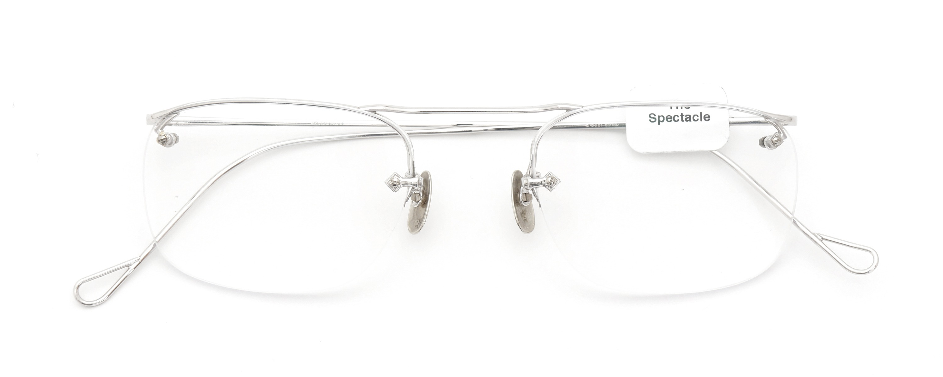 The Spectacle メガネ 1940 American Optical Everjax Bar Sterling WG 12kPads 49-21 イメージ2