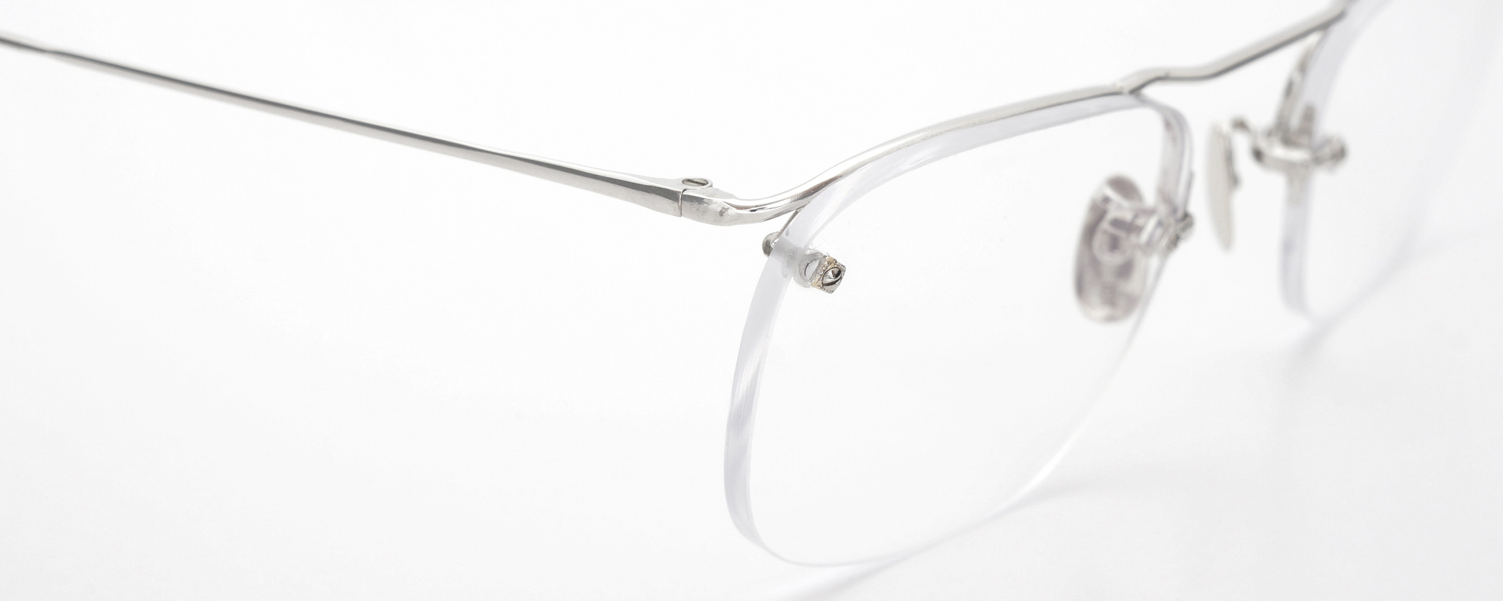 The Spectacle メガネ 1940 American Optical Everjax Bar Sterling WG 12kPads 49-21 イメージ6