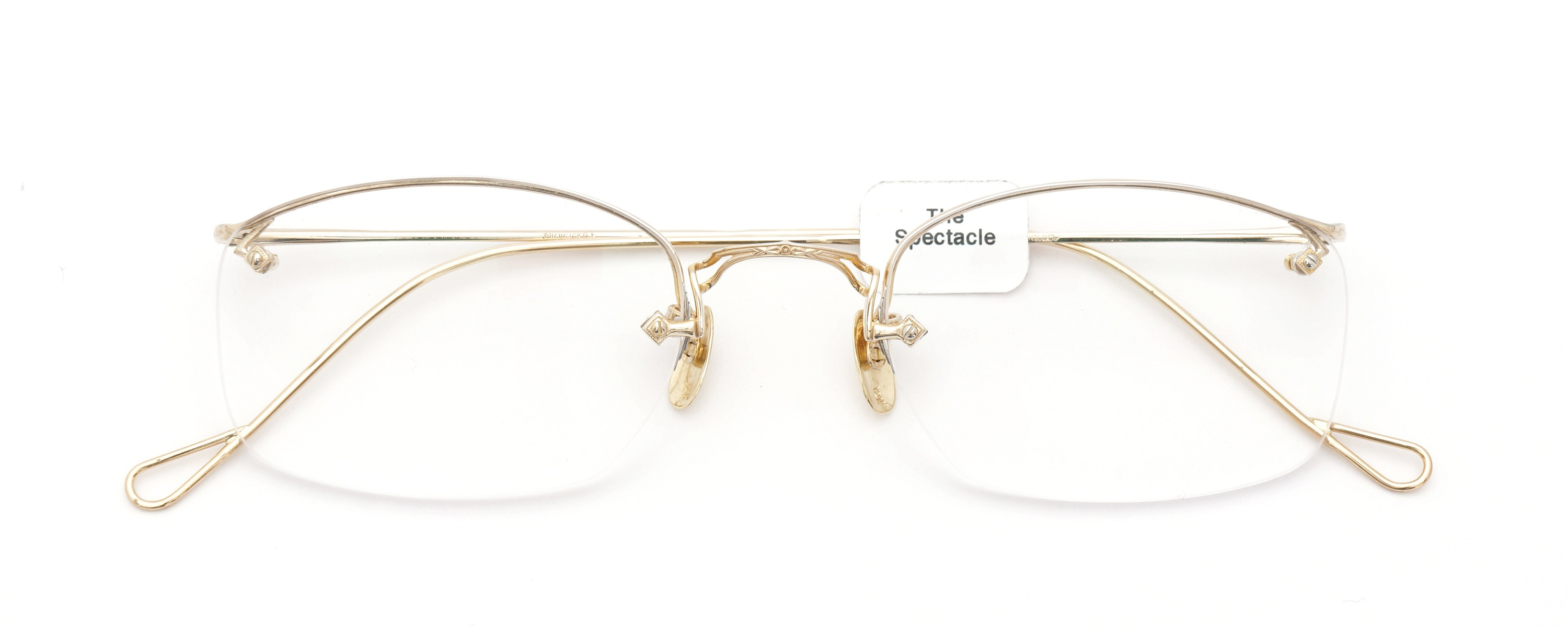 The Spectacle メガネ 1944 American Optical Everjax Ful-Vue lan YG 12kPads 51/22 イメージ2