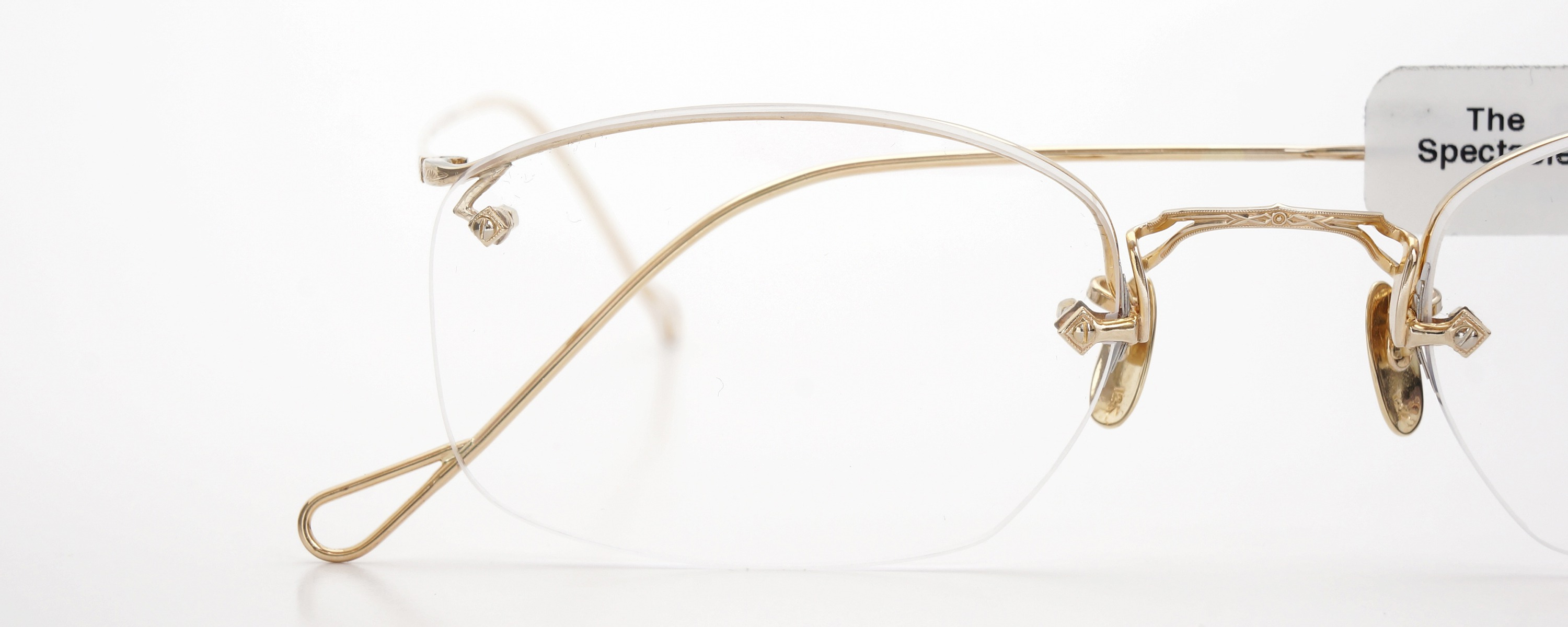 The Spectacle メガネ 1944 American Optical Everjax Ful-Vue lan YG 12kPads 51/22 イメージ18