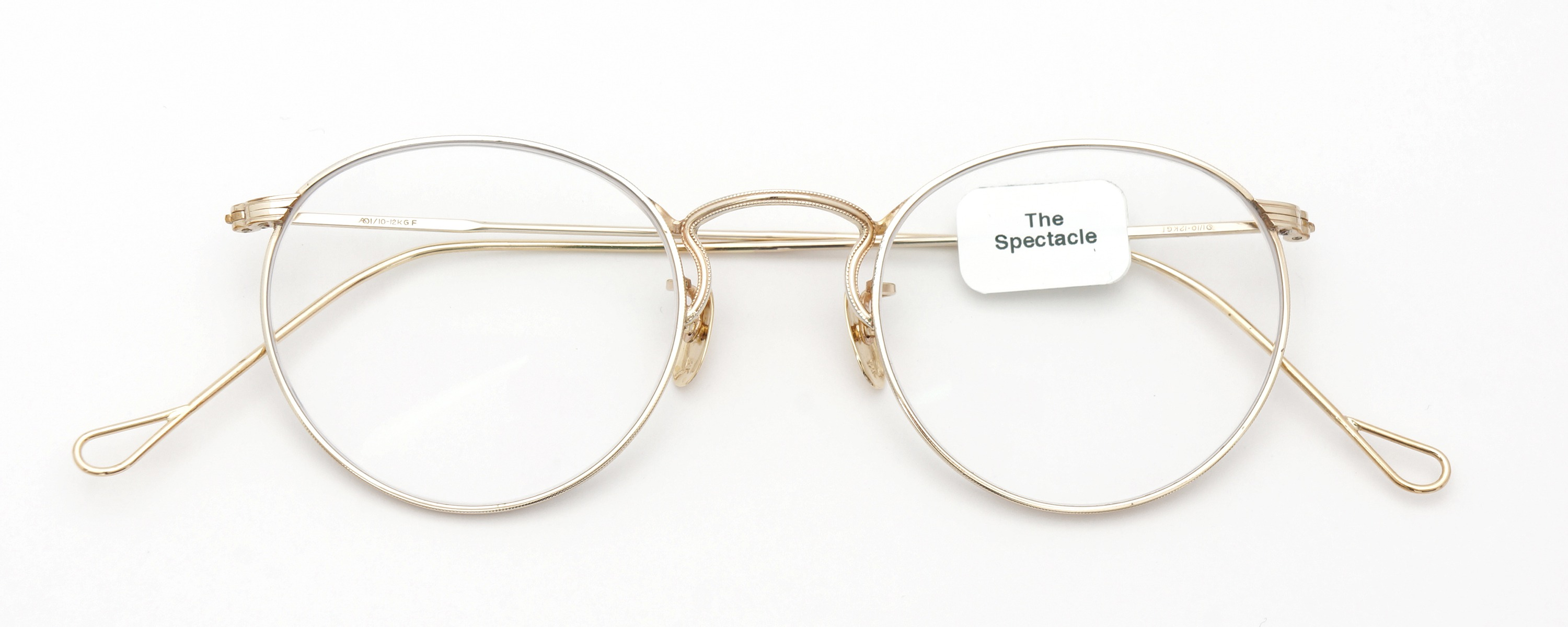 The Spectacle メガネ 1930s-40s  American Optical Full-Frame Ful-Vue P-5 YG 46-22 イメージ2
