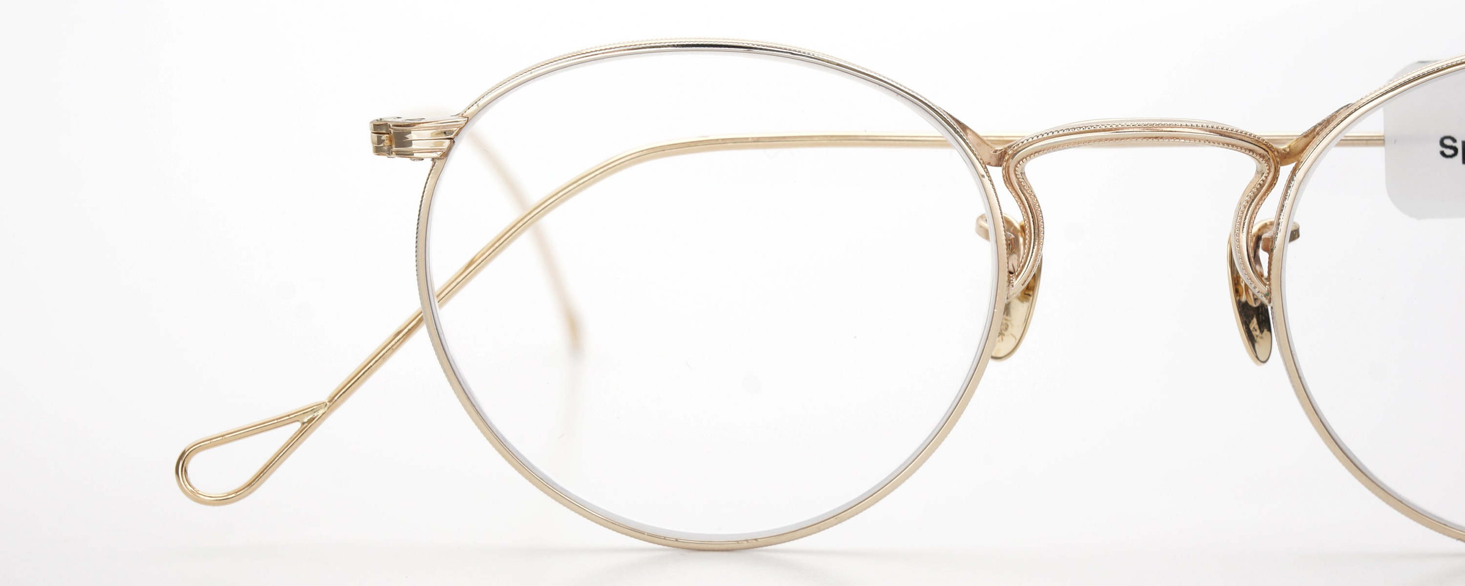 The Spectacle メガネ 1930s-40s  American Optical Full-Frame Ful-Vue P-5 YG 46-22 イメージ18