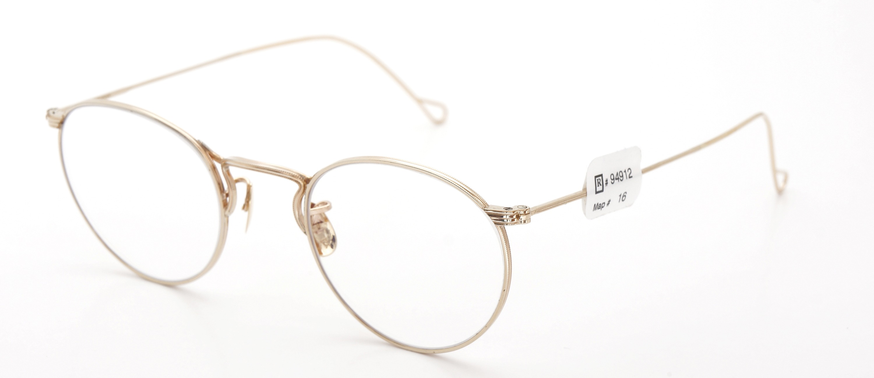 The Spectacle メガネ 1930s-40s  American Optical Full-Frame Ful-Vue P-5 YG 46-22 イメージ3