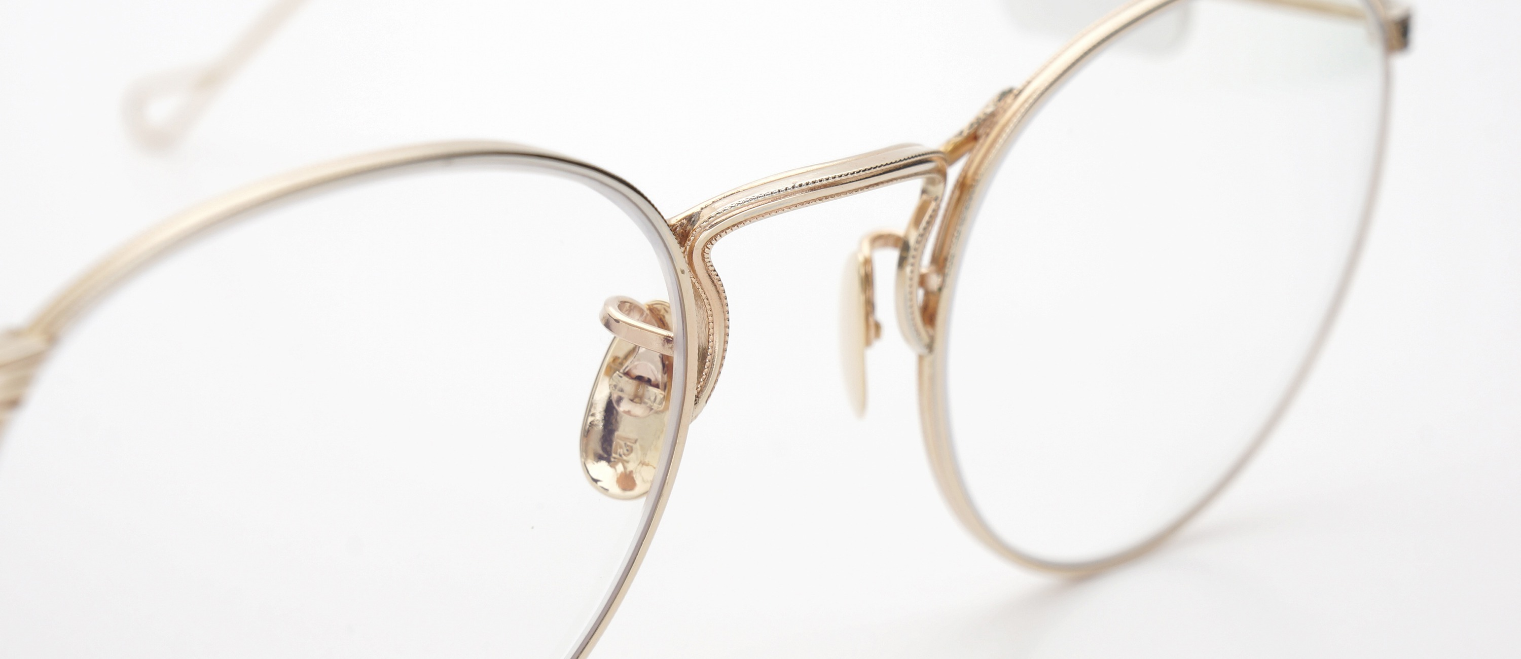 The Spectacle メガネ 1930s-40s  American Optical Full-Frame Ful-Vue P-5 YG 46-22 イメージ7