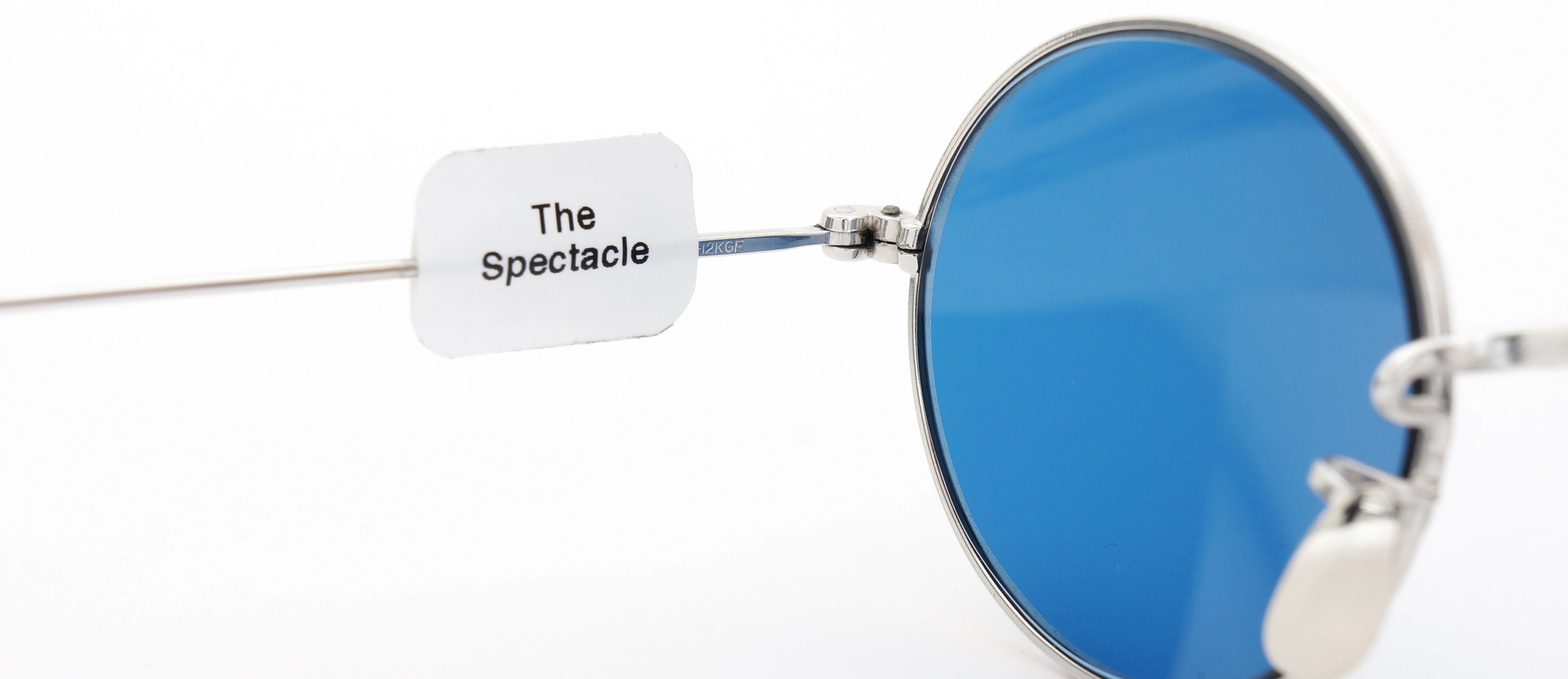 The Spectacle メガネ 1928-30s American Optical Full-Frame Side-Mount Alexander WG 12kPads 44/21 Blue-Lense イメージ11
