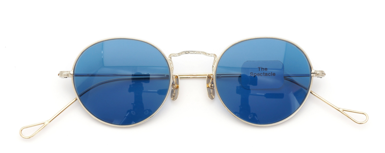 The Spectacle メガネ 1928-30s American Optical Full-Frame Side-Mount F-P-3 YG 12kPads Blue-Lense 2