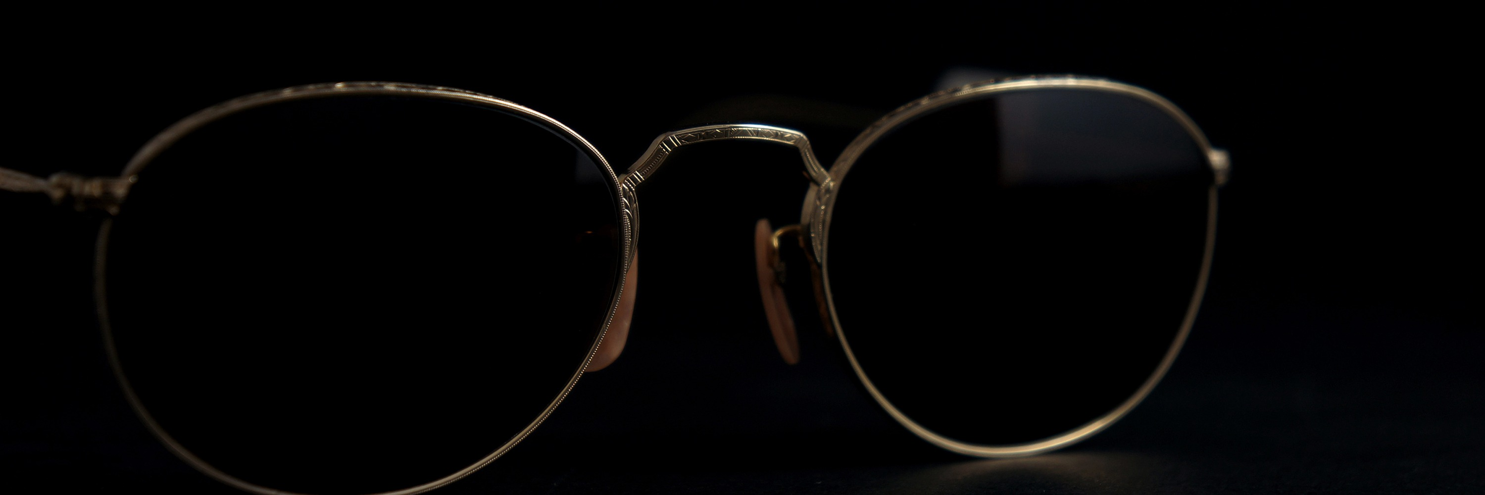 The Spectacle メガネ 1930s-40s Bausch&Lomb HIBO Full-Frame Ful-Vue James YG 47-21 Brown-Lense イメージ