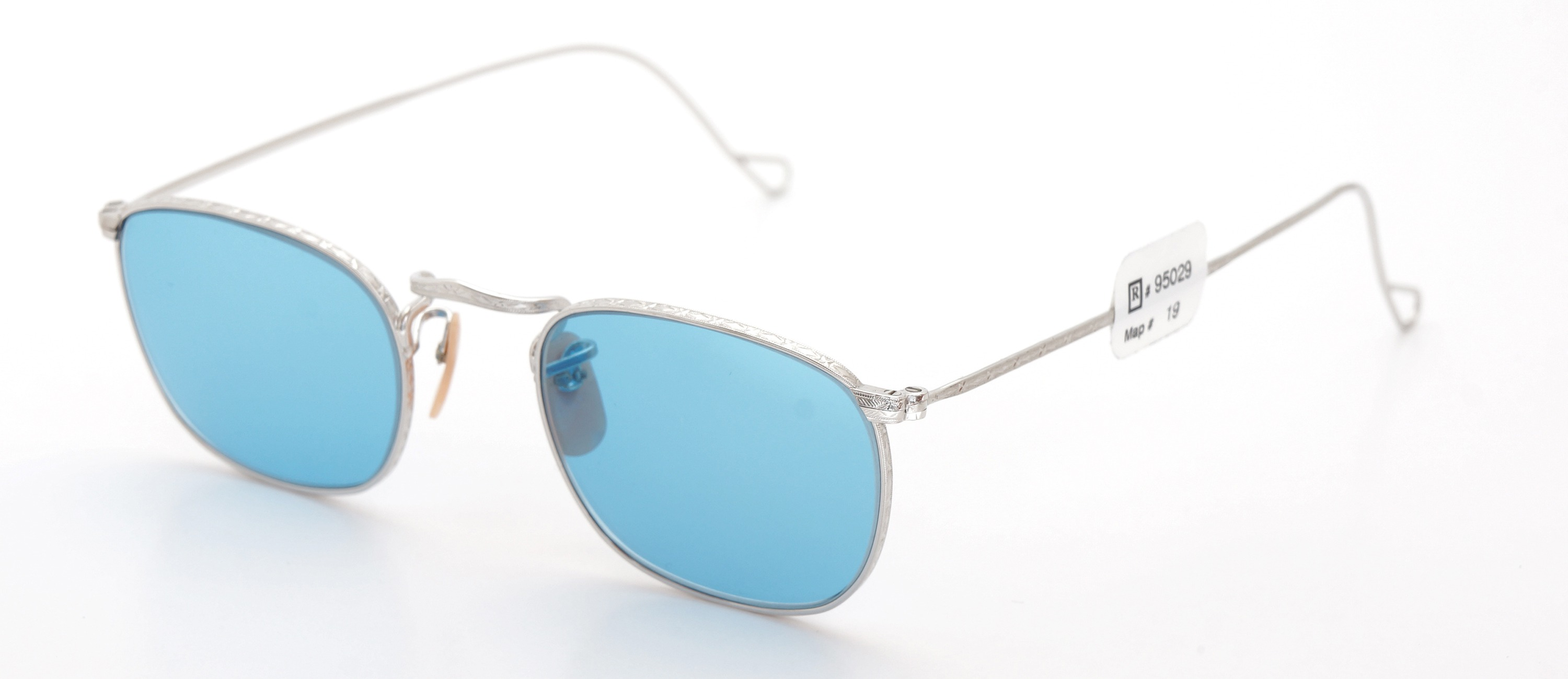 The Spectacle メガネ 1930s-40s Bausch&Lomb Full-Frame Ful-Vue Whitaker WG 45-21 Light-Blue-Lense イメージ3