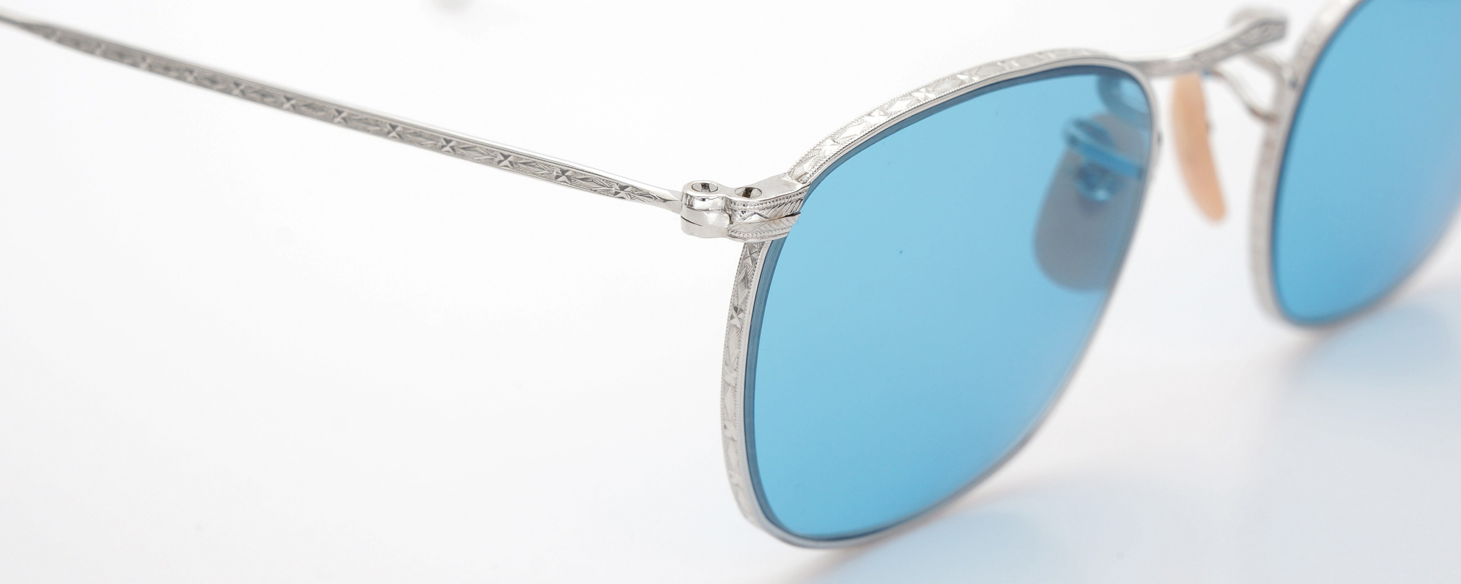 The Spectacle メガネ 1930s-40s Bausch&Lomb Full-Frame Ful-Vue Whitaker WG 45-21 Light-Blue-Lense イメージ6