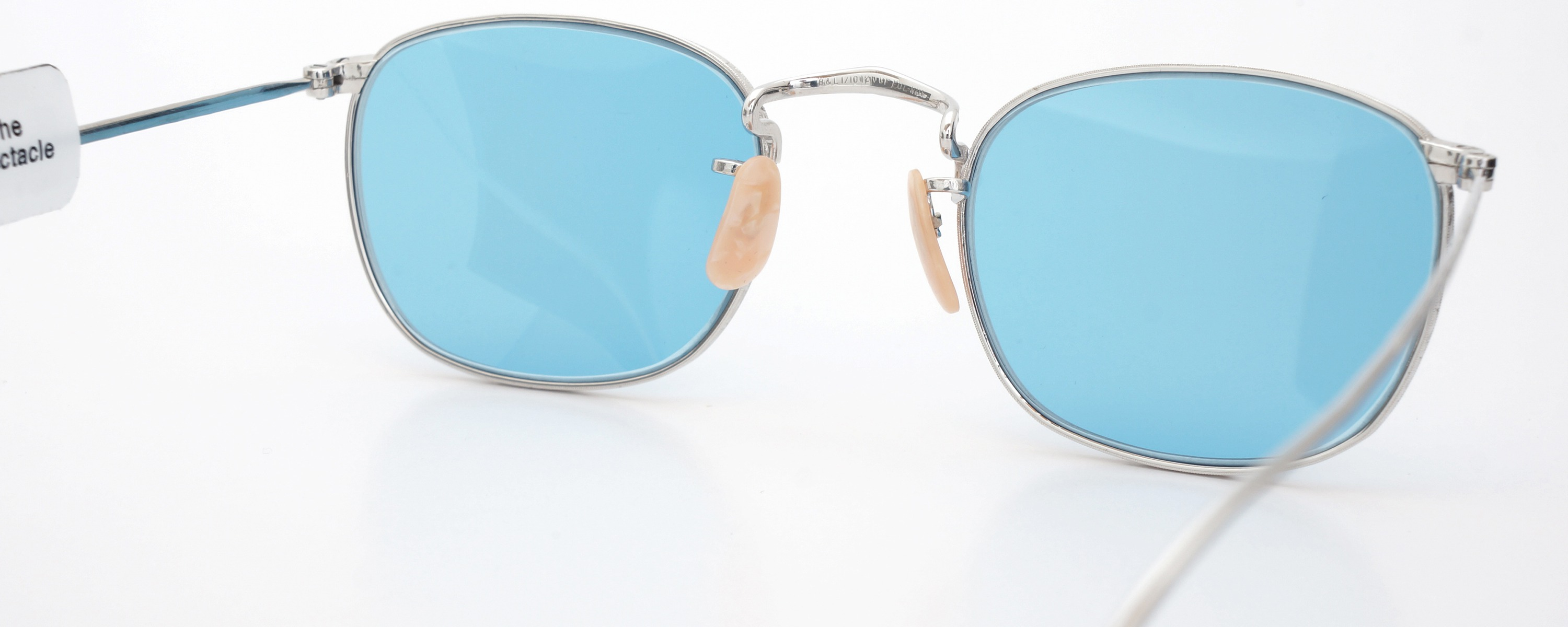 The Spectacle メガネ 1930s-40s Bausch&Lomb Full-Frame Ful-Vue Whitaker WG 45-21 Light-Blue-Lense イメージ8