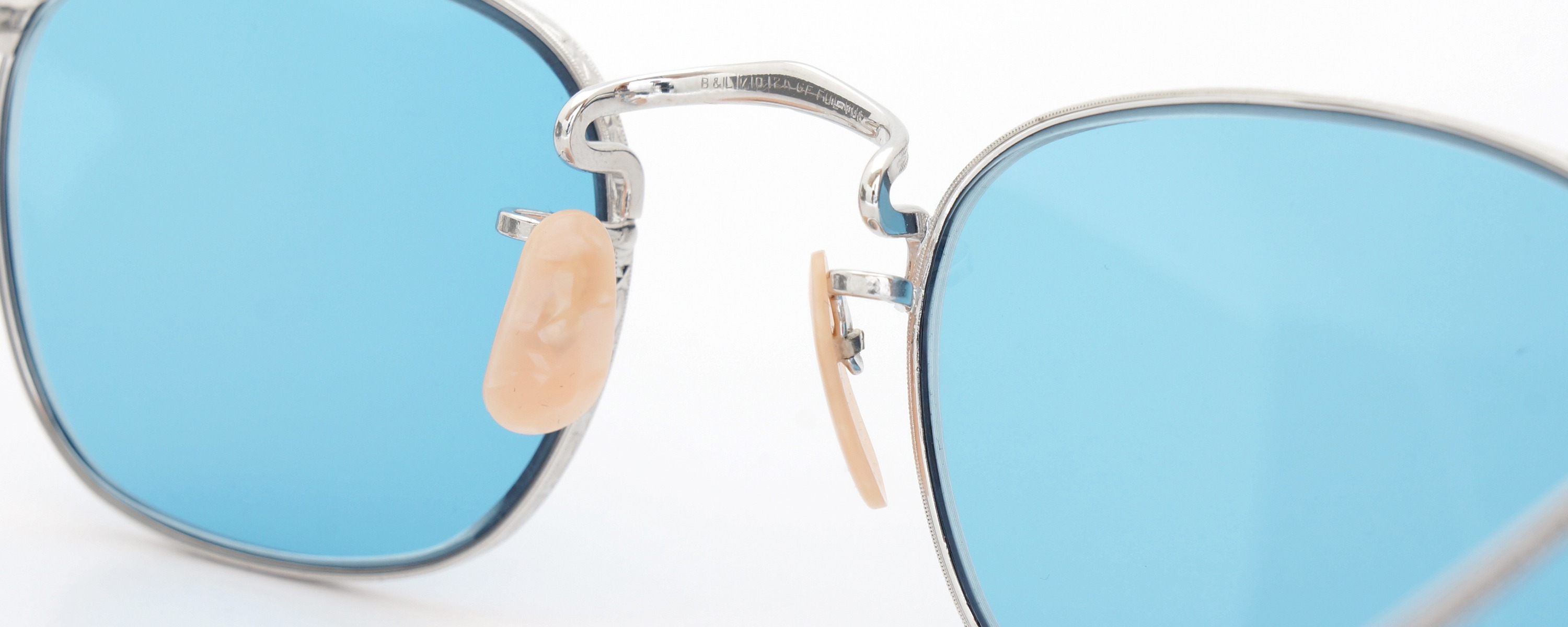 The Spectacle メガネ 1930s-40s Bausch&Lomb Full-Frame Ful-Vue Whitaker WG 45-21 Light-Blue-Lense イメージ9