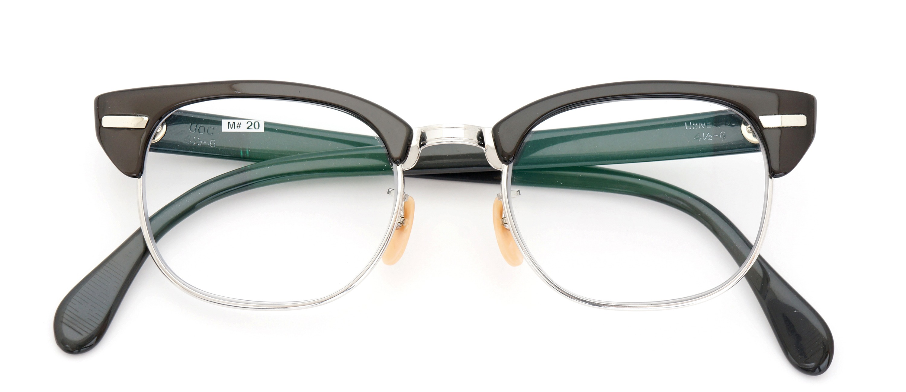 The Spectacle メガネ 1950s-60s Universal Combination UOC-600E Grey-Stripe WG 48-20 イメージ2
