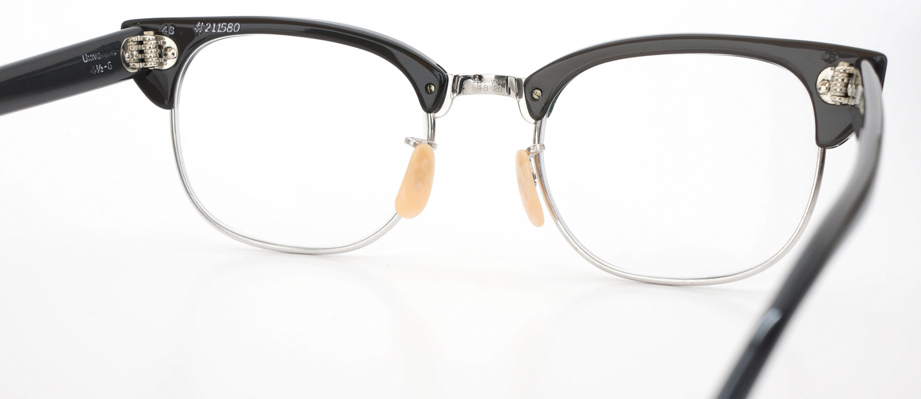 The Spectacle メガネ 1950s-60s Universal Combination UOC-600E Grey-Stripe WG 48-20 イメージ8