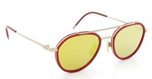 THOM BROWNE トムブラウン メガネ TB-801-D GLD-RED-51size Dark-Brown-Gold-lense