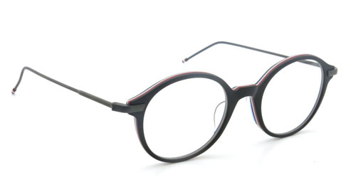THOM BROWNE トムブラウン メガネ TB-708-A BLACK/RED/WHITE/BLUE 48size