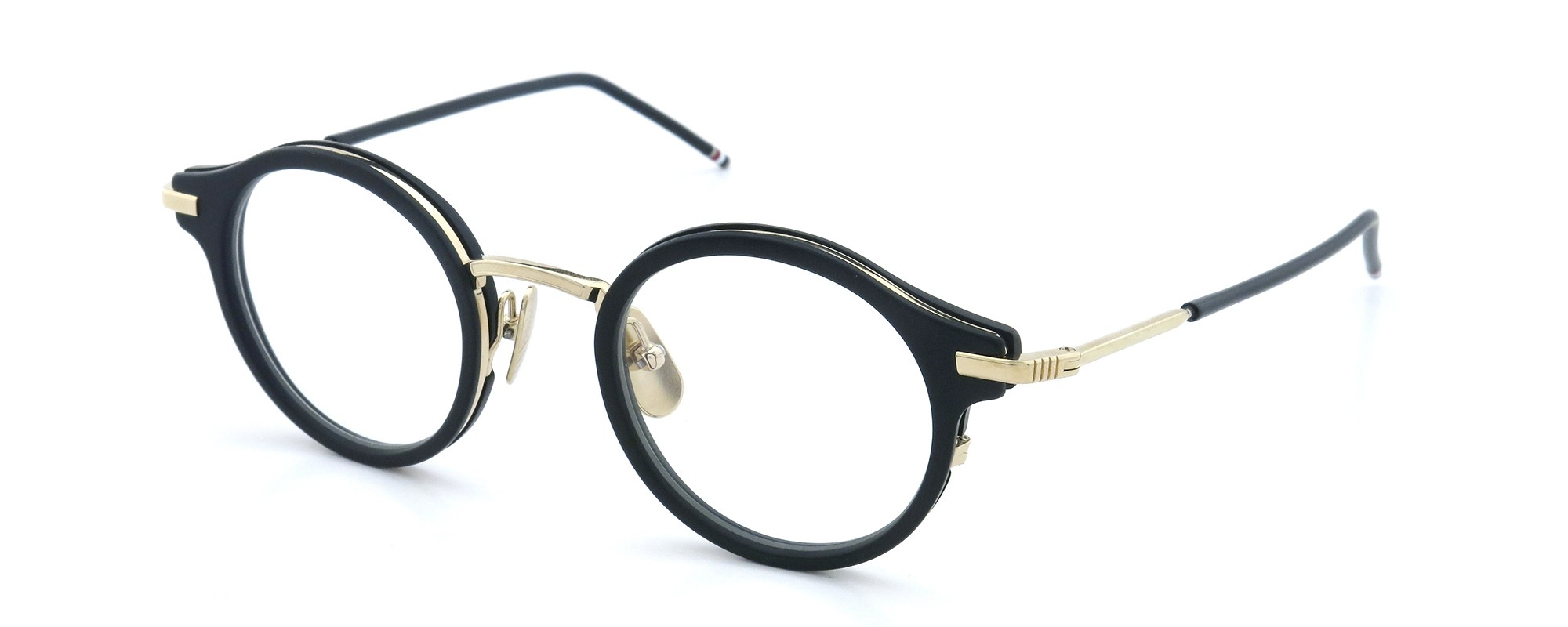 THOM BROWNE. TB-807-A BLK-12KGLD 45size