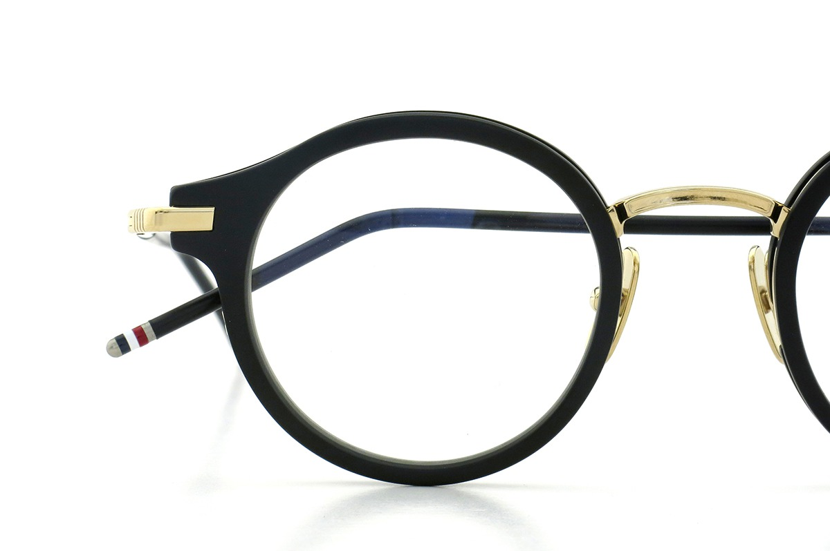 THOM BROWNE. TB-807-A BLK-12KGLD 45size 12