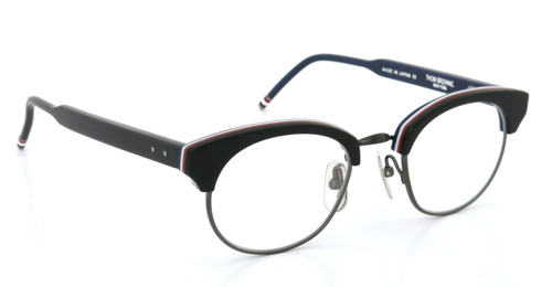 THOM BROWNE. トムブラウン メガネ TB-702 C 47size MATTE BLACK - RED/WHITE/BLUE - BLACK IRON