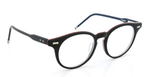 THOM BROWNE. トムブラウン メガネ TB-404-A MATTE BLACK-RED/WHITE/BLUE