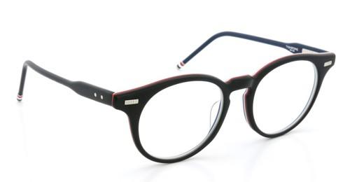 THOM BROWNE. トムブラウン メガネ TB-404-A MATTE BLACK-RED/WHITE/BLUE