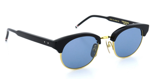 THOM BROWNE. トムブラウン メガネ TB-702 A 47size BLACK - 12K GOLD METAL