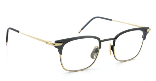 THOM BROWNE トムブラウン メガネ TB-102-A BLK-12kGLD-49size