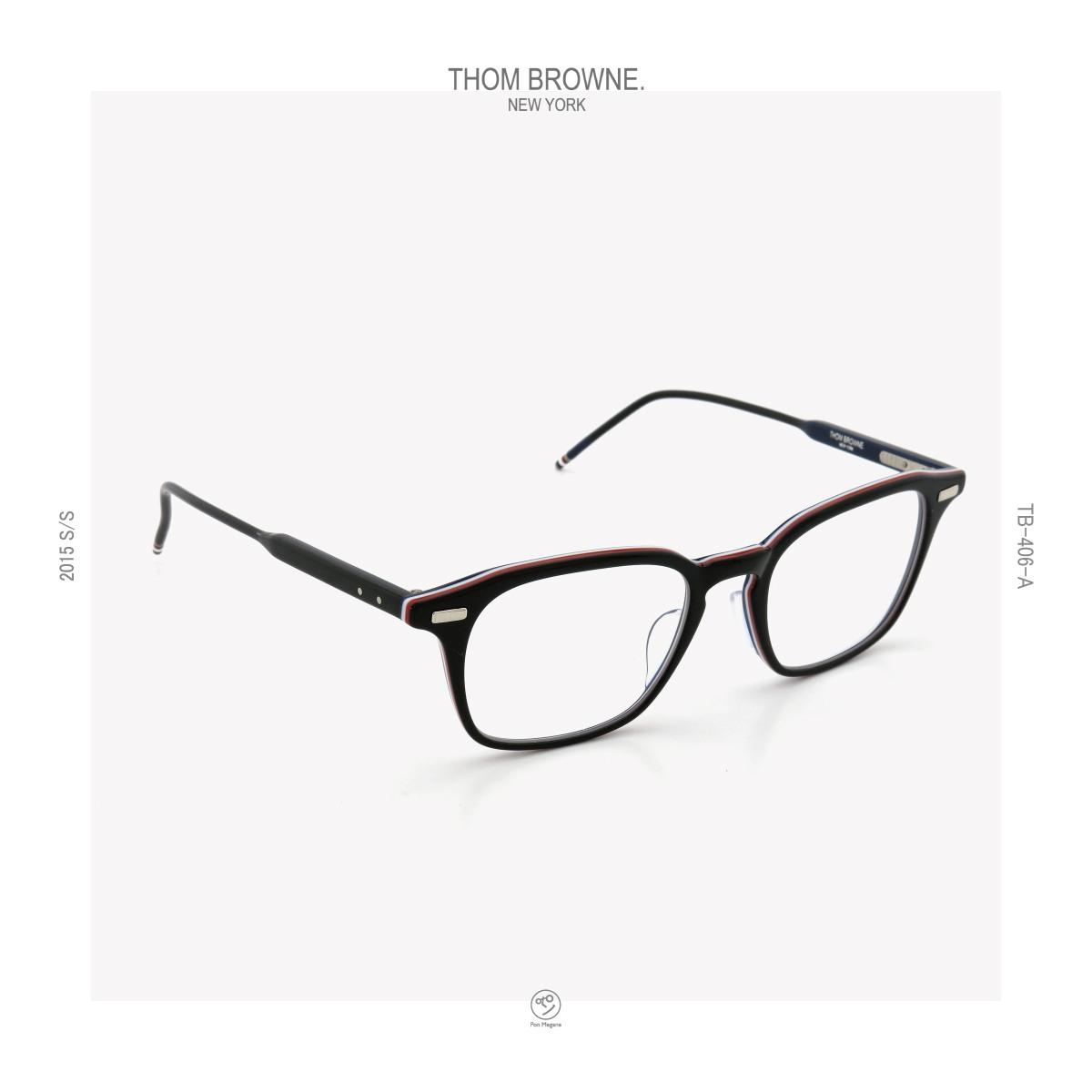 THOM-BROWNE 2015s/s TB-406-A BLK-RWB 51size