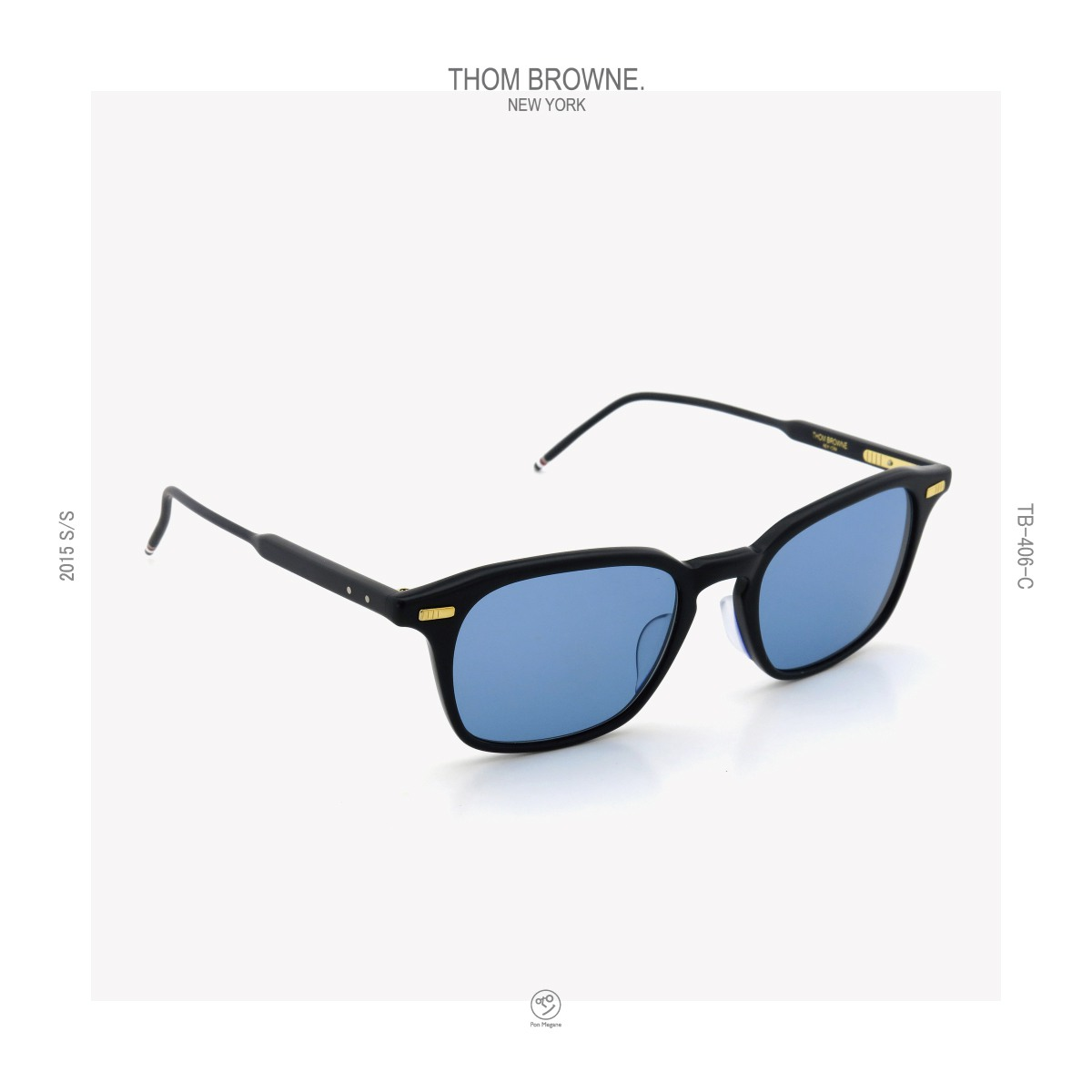 THOM-BROWNE 2015s/s TB-406-C-T NVY 51size