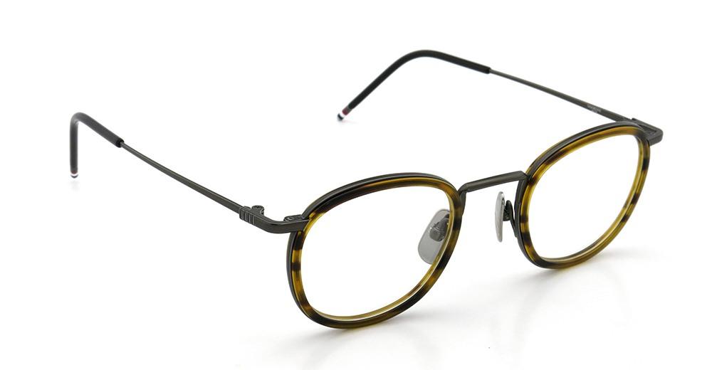 THOM BROWNE トムブラウン 2015年春夏 クリップオンサングラスつきメガネ TB-710-A BLK-WLT 46size メガネとしてご利用時