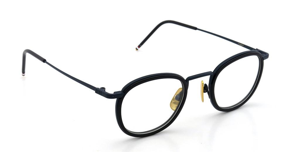 THOM BROWNE トムブラウン 2015年春夏 クリップオンサングラスつきメガネ TB-710-C NVY-NVY 46size メガネとしてご利用時