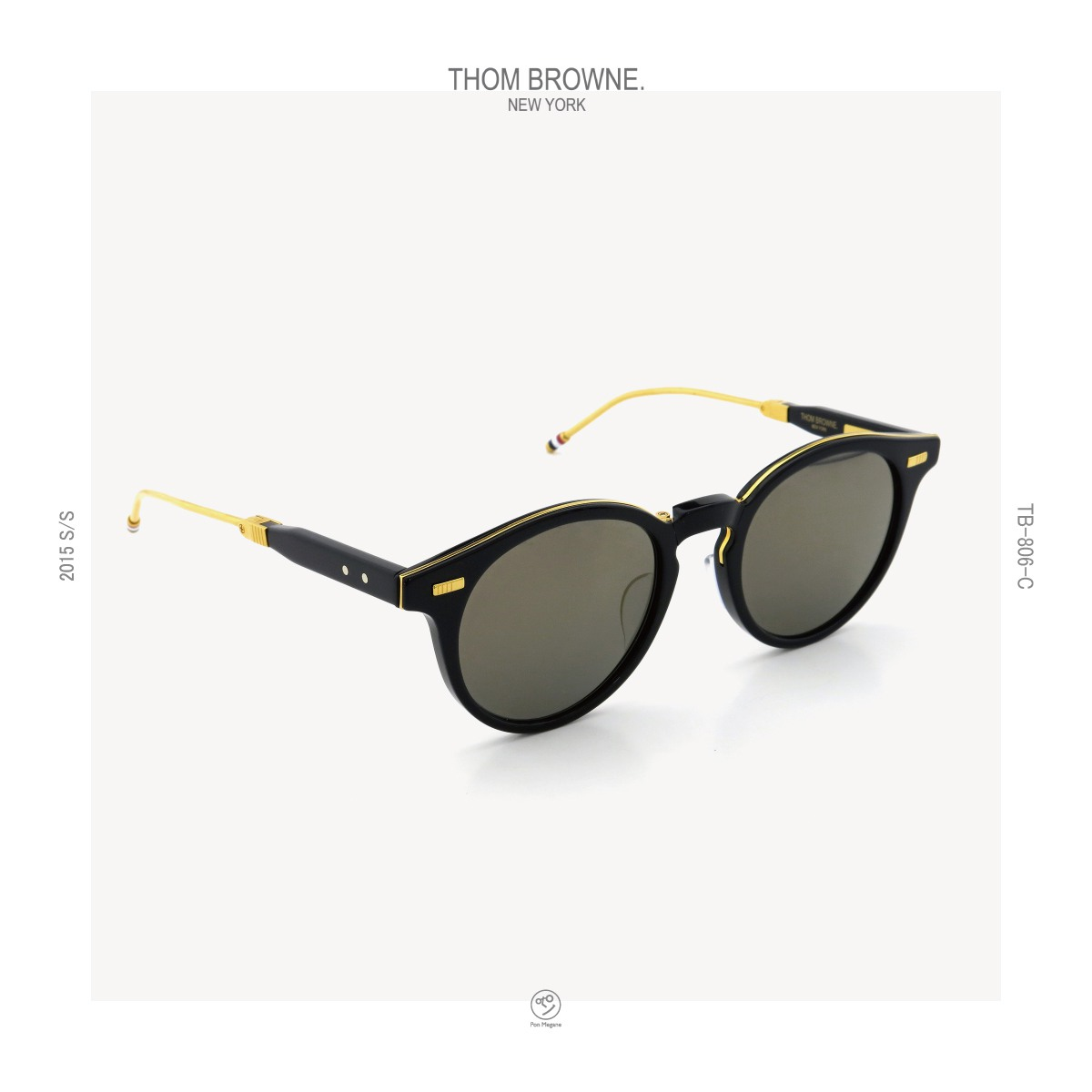 THOM-BROWNE 2015s/s TB-806-C NVY-18kGLD_52size post-ponmegane
