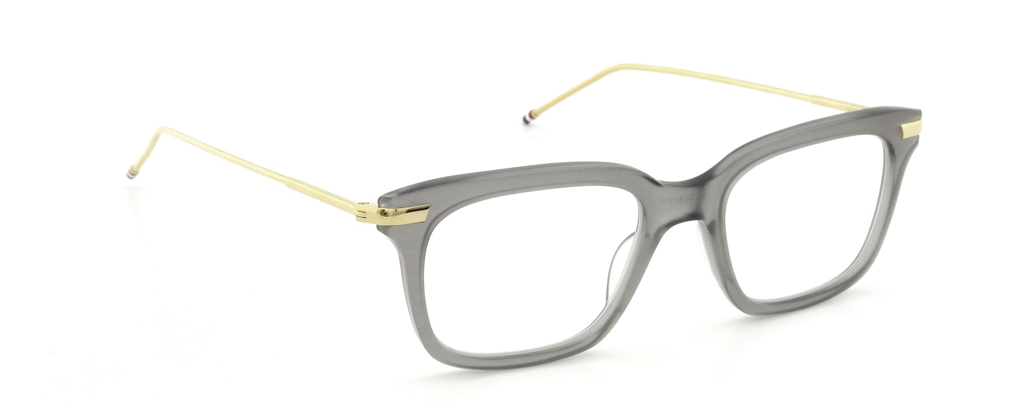 THOM BROWNE. TB-701-G GRY/18kGLD 49size