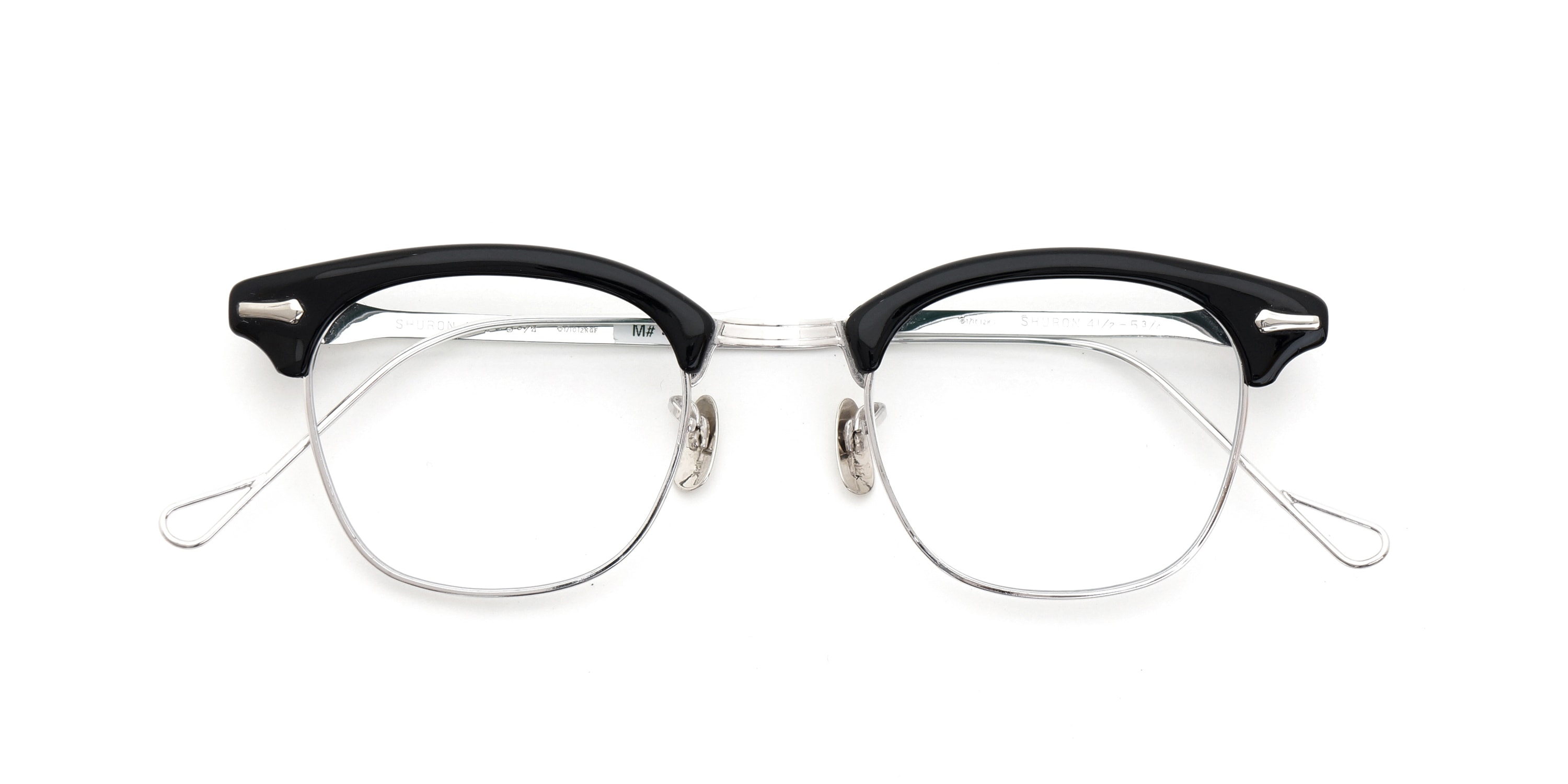 The Spectacle メガネ 1950s-1960s SHURON RONSIR GF-Temple Black WG 1/10 12KGF 46/22 イメージ6