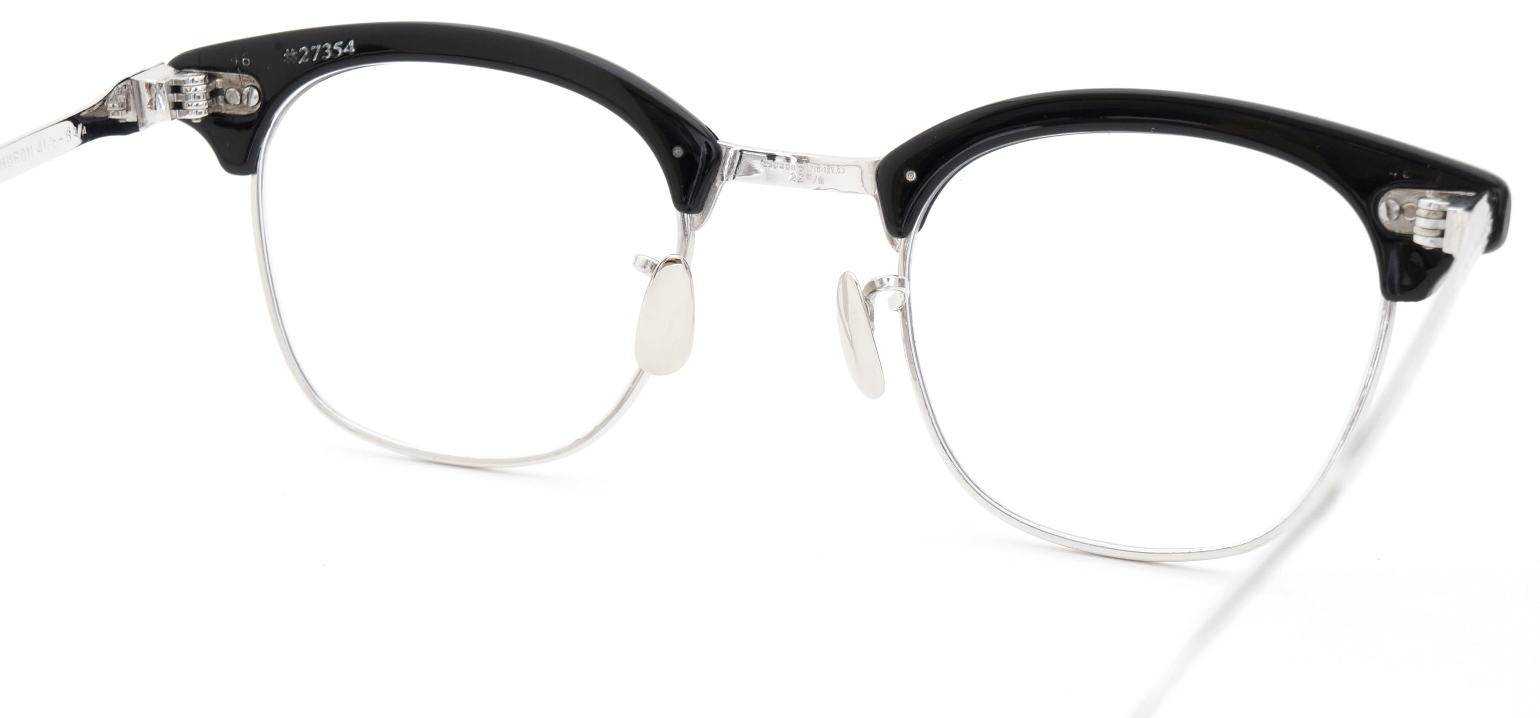 The Spectacle メガネ 1950s-1960s SHURON RONSIR GF-Temple Black WG 1/10 12KGF 46/22 イメージ9