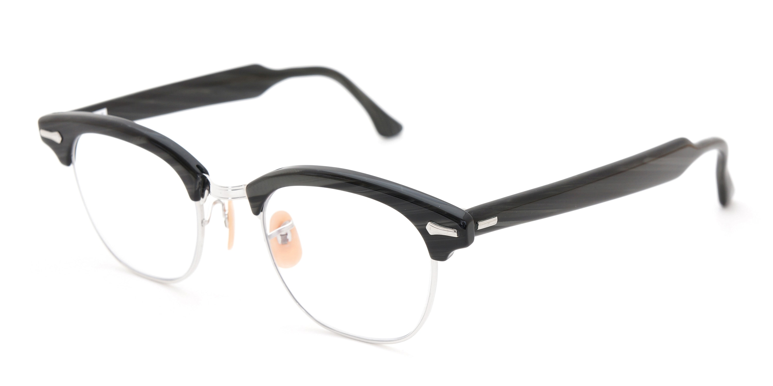 The Spectacle メガネ 1950s-1960s SHURON RONSIR Black-Stone WG 1/10 12KGF 46/20 イメージ3