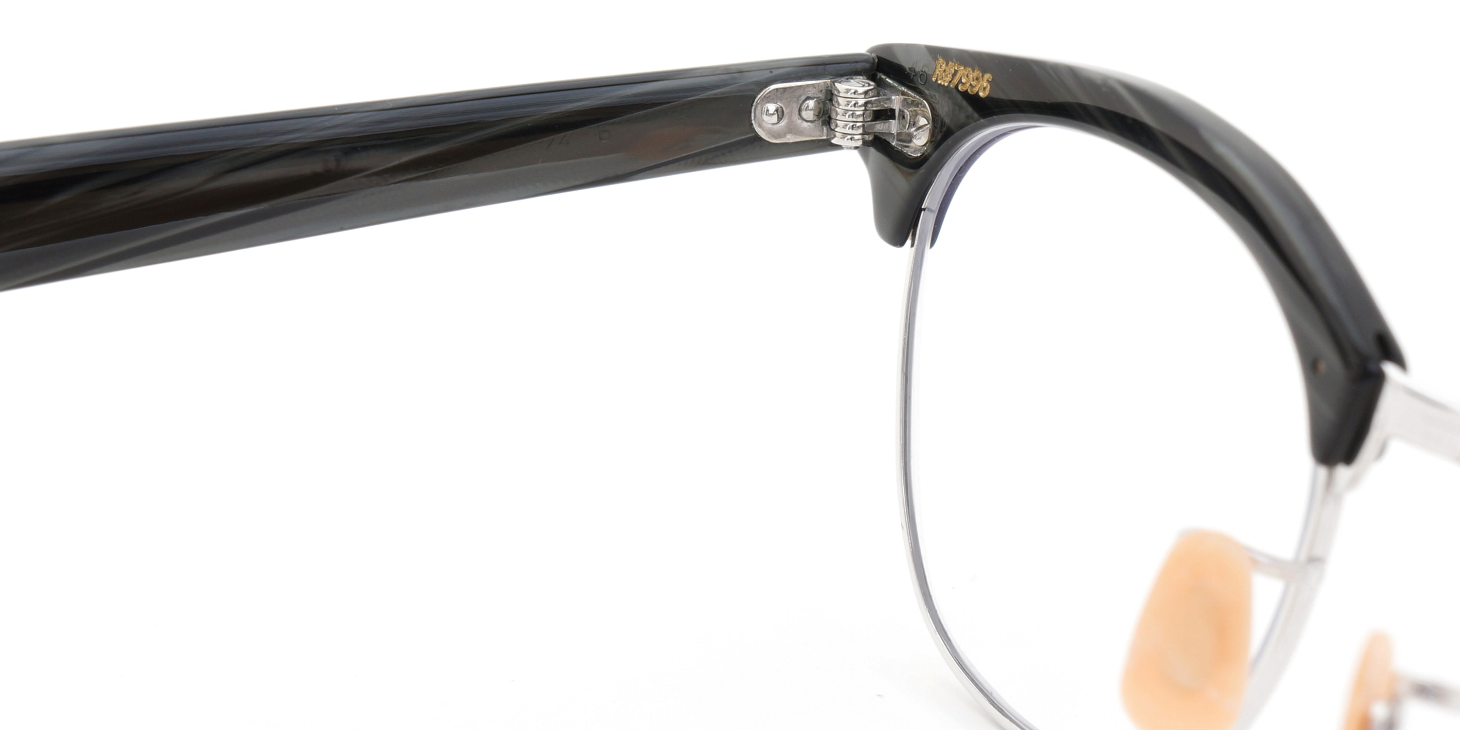 The Spectacle メガネ 1950s-1960s SHURON RONSIR Black-Stone WG 1/10 12KGF 46/20 イメージ11