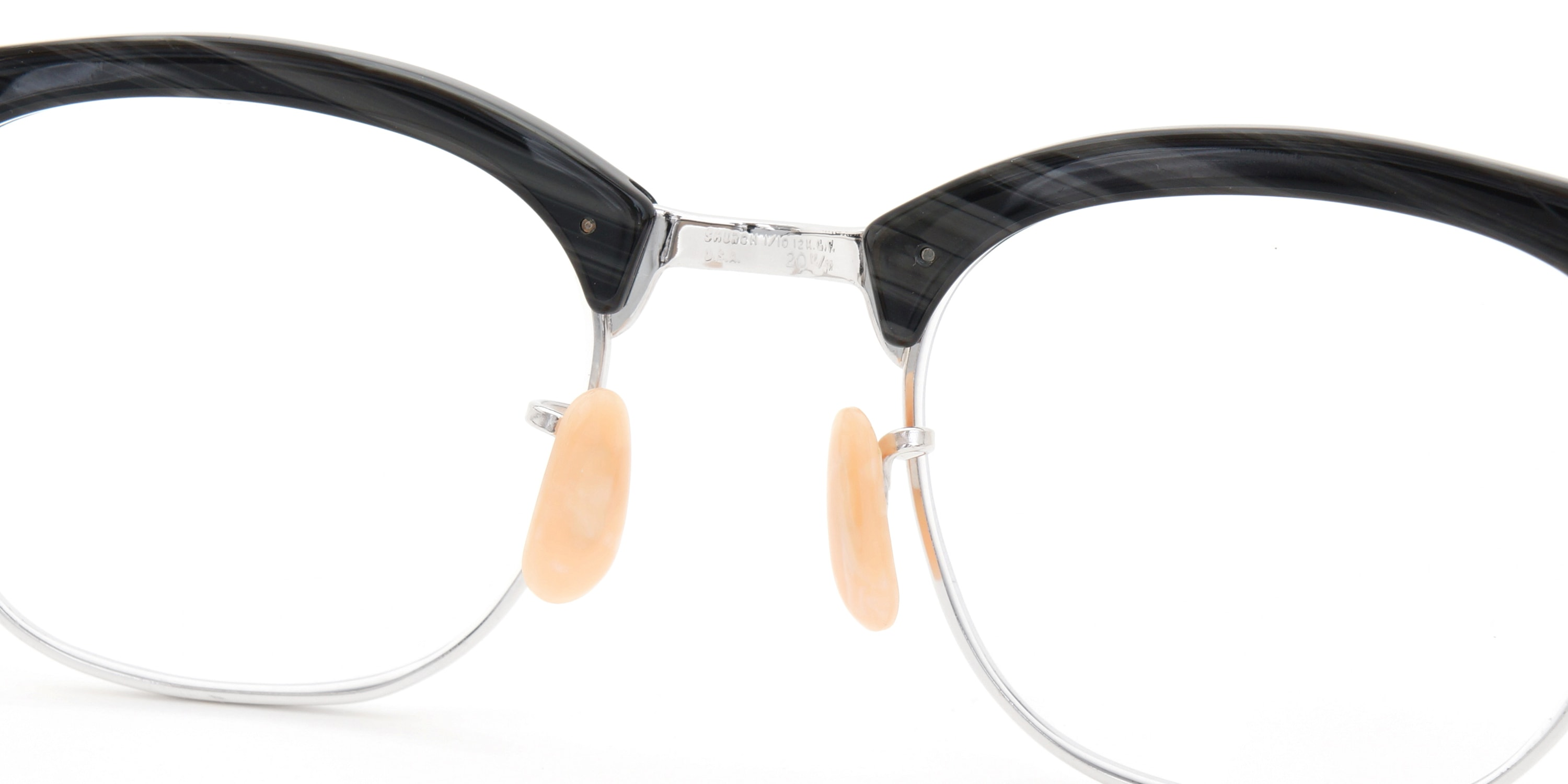 The Spectacle メガネ 1950s-1960s SHURON RONSIR Black-Stone WG 1/10 12KGF 46/20 イメージ13