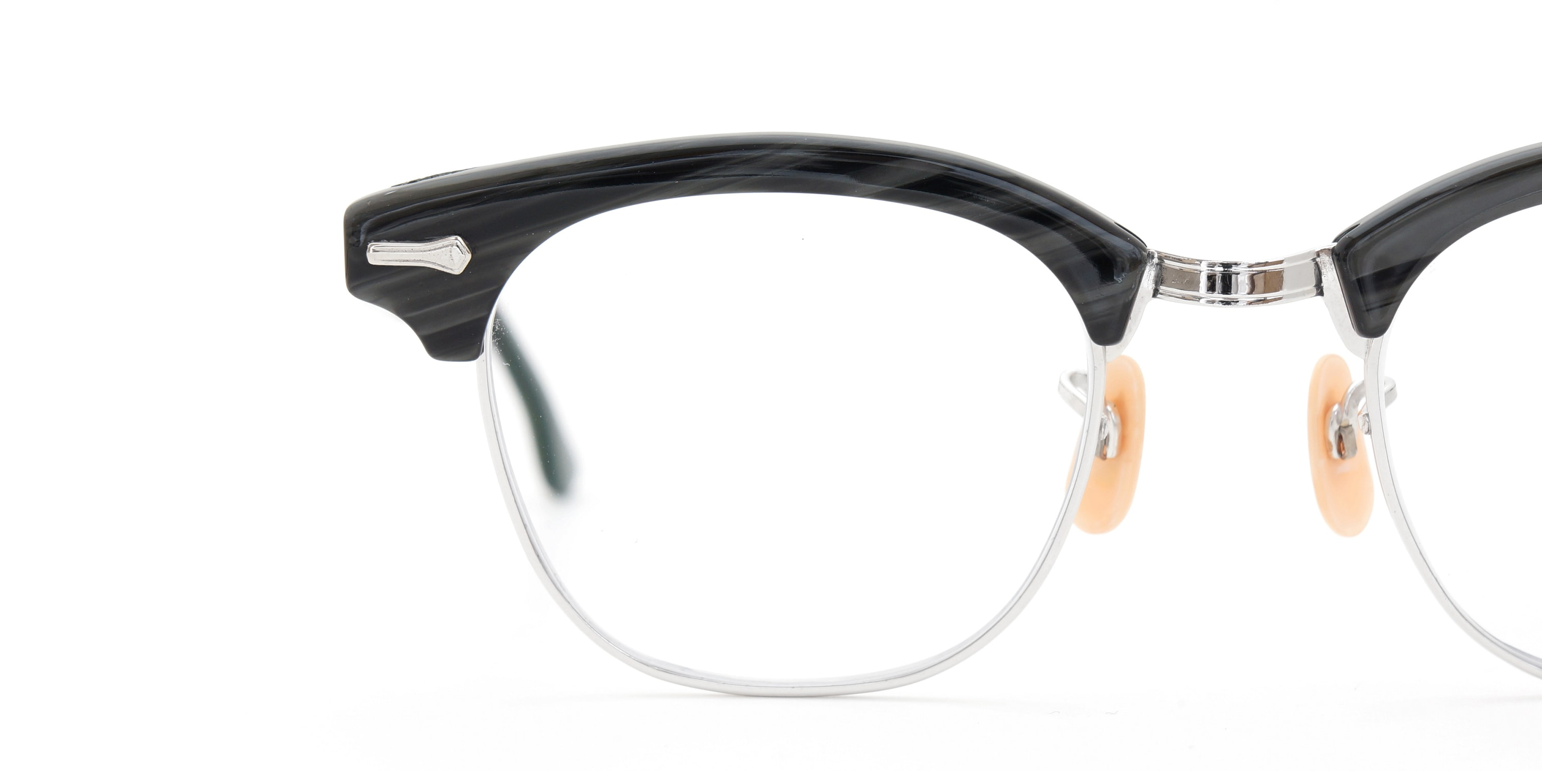 The Spectacle メガネ 1950s-1960s SHURON RONSIR Black-Stone WG 1/10 12KGF 46/20 イメージ16
